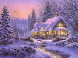 neige sur les toits