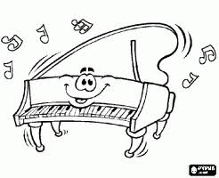 piano coloriage